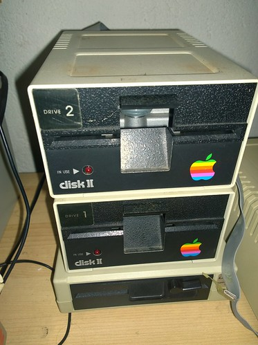 Apple ][ & Laser FD-100 disk drives   by Deep Fried Brains