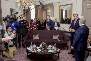 Secretary Kerry Addresses Reporters Before Bilateral Meeting With Algerian Foreign Minister Lamamra on Sidelines of COP21 Climate Change Conference in Paris