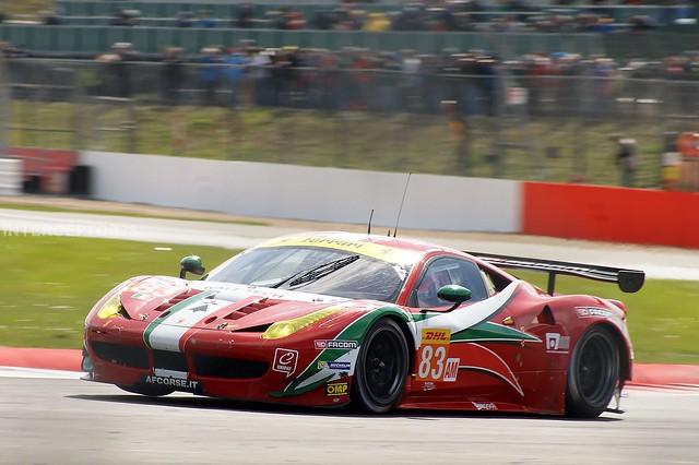 Emmanuel Collard/François Perrodo/Rui Águas, AF Corse Ferrari 458 Italia GT2, 2015 World Endurance Championship R1, 6 Hours of Silverstone, 12th April