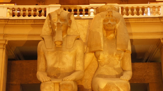 King Amenhotep III and his wife Queen Tiye