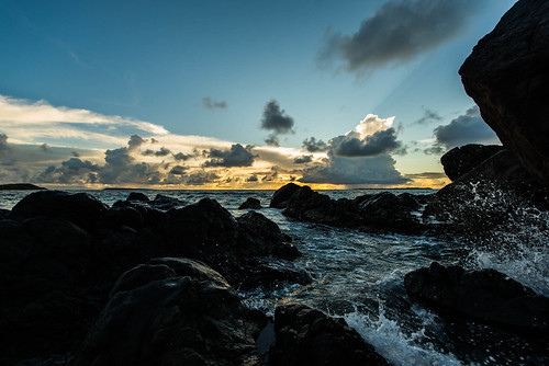 trip saint martin island antilles caraïbes sunset sunrise beach cloud sky ocean sea caribbean