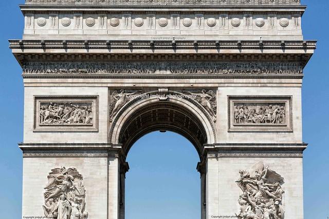 Arch of Triumph in Paris, France