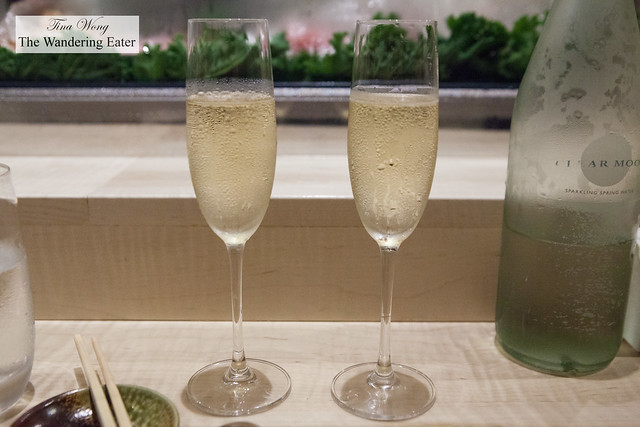 Our glasses of Champagne Philippe Gonet, Grande Reserve Brut