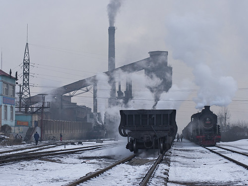 china railroad mine railway steam mining locomotive coal heilongjian jixi