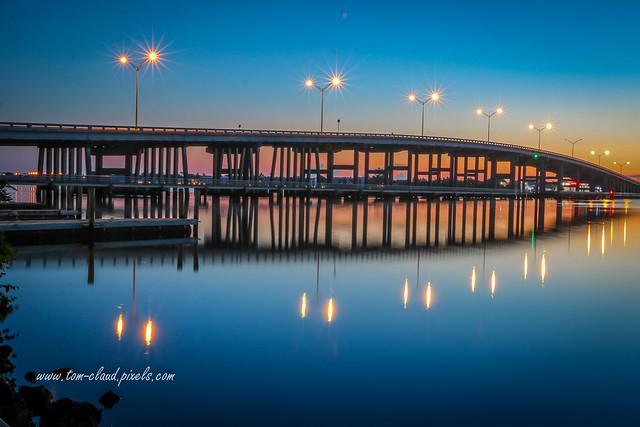Sunrise at Palm City Bridge