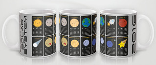 2016 Calendar Mug - Solar System | by marceline (asking for trouble)