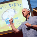 Alan MacDonald | Author of the Dirty Bertie books, Alan MacDonald, causes some mischief at the Book Festival © Alan McCredie