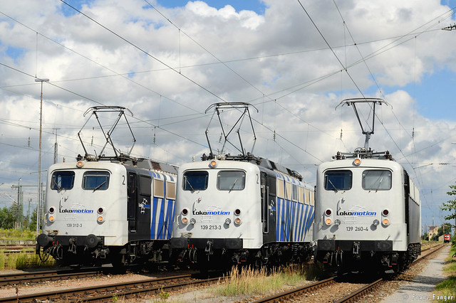 Lokomotion 139 312, 213 und 260, München-Ost Rbf, 08.08.2008