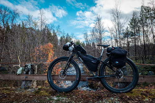 bridge autumn bike bicycle river se sweden outdoor lappland lapland sverige scandinavia rowan biketouring karesuando sápmi norrbottenslän surlykrampus xf14mmf28r xf14mm fujinonxf14mmf28r fujifilmxt10