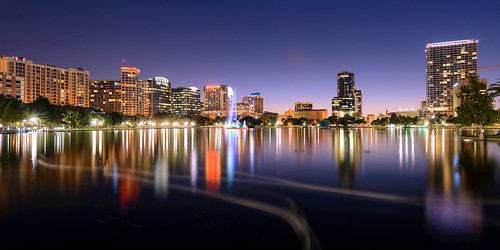 longexposure sky usa lake water fountain skyline reflections lights orlando cityscape waterfront nightscape unitedstates florida dusk romantic serene bluehour downtownorlando centralflorida clearnight eolapark afterdarkphotography nikond610 jacobsummerlin
