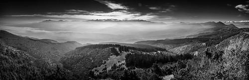 winter blackandwhite panorama mist mountain black mountains nature monochrome fog forest landscape nikon noir view noiretblanc hiking pano exploring panoramic explore macedonia photomerge landschaft skopje vodno karadzica nikond5100