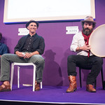 Paul Kingsnorth, Mark Rylance and Martin Shaw | Reading from Kingsnorth's novel about the aftermath of the Battle of Hastings © Alan McCredie