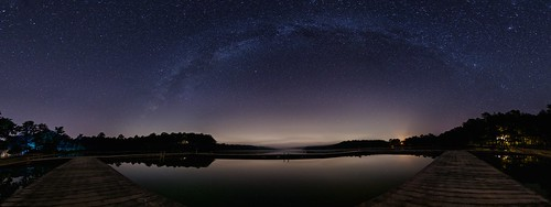 panorama night docks stars landscape pond nikon massachusetts plymouth astrophotography milkyway campcachalot autopanopro d7000 fivemilepond cachalotscoutreservation