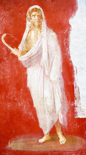 Saturn, fresco 69 - 72 AD, Pompeii, House of the Dioscuri / Сатурн, 69 - 72 г. сл. Хр., Помпей, Къща на Диоскурите