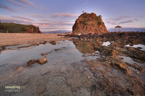 ocean longexposure travel sea seascape beach water rock sunrise landscape island coast seaside pacific outdoor philippines aurora seashore islet baler waterscape rockformation ndfilters luksolukso