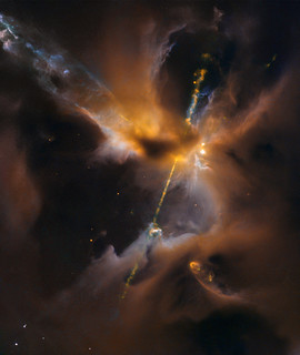 Hubble Sees the Force Awakening in a Newborn Star | by NASA Goddard Photo and Video