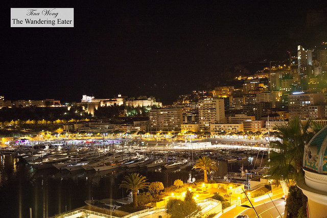 Night view of Monte Carlo from the terrace