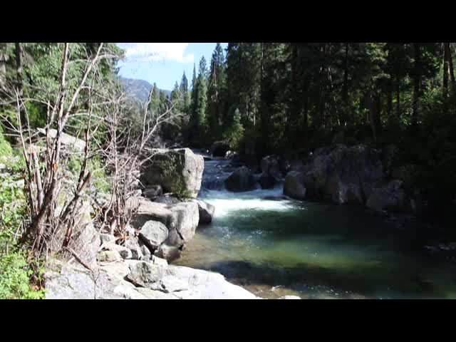 2886 We finally descend to the creek - video from the Vallecito Creek Trail
