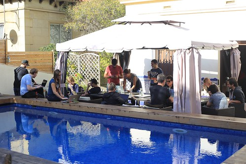Hackaton in an almost too perfect surrounding, Barcelona