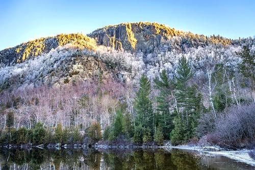 winter sunrise giant hoarfrost chapelpond myrrs