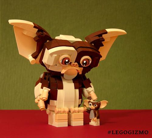 Brick-built Gizmo & Minifig Gizmo
