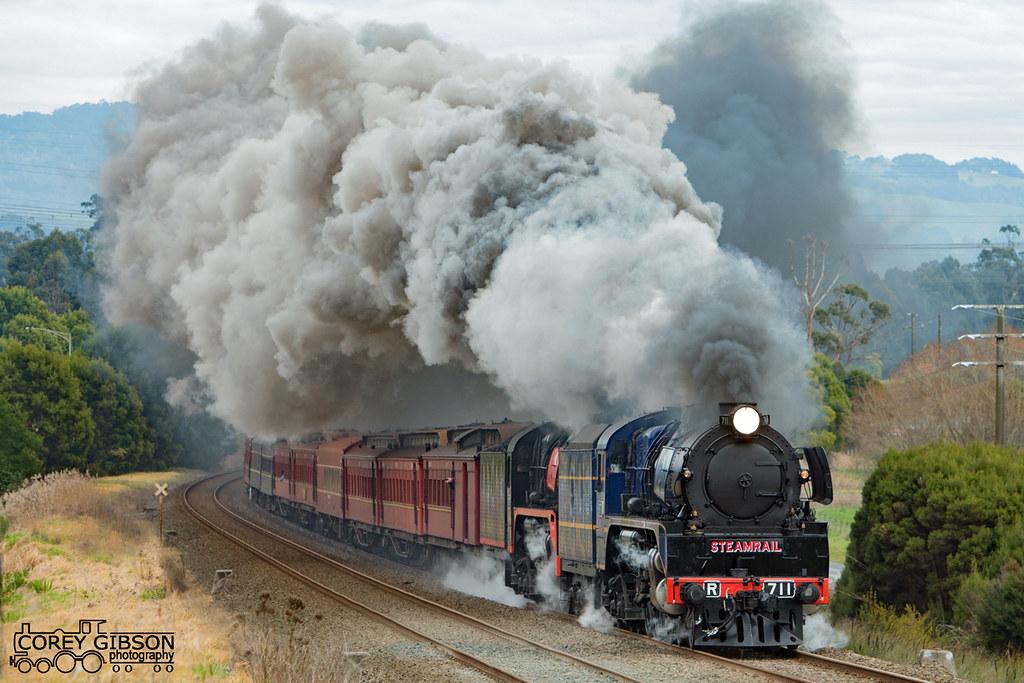 Steamrail Snow Train Trip near Trafalgar by Corey Gibson