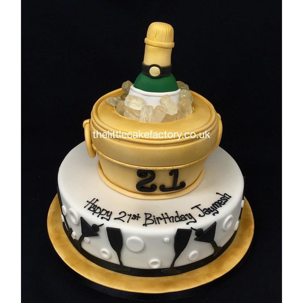 Amazing 21St Birthday Champagne Cake 21 21Stbirthday Champagne Flickr Funny Birthday Cards Online Aboleapandamsfinfo