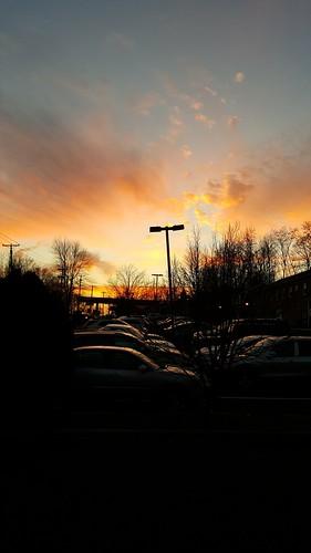 sunset clouds december nj