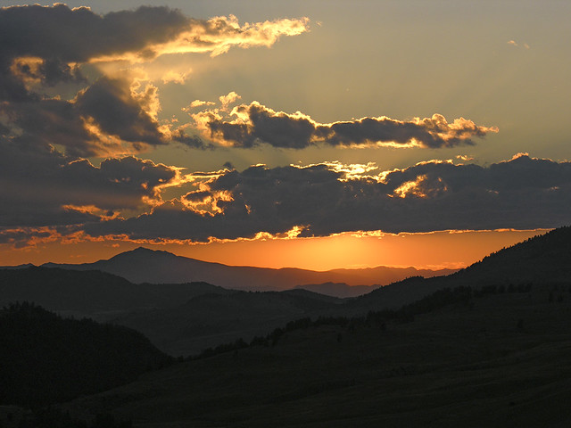 Sunset in the Lamar Valley. Yellowstone N.P.