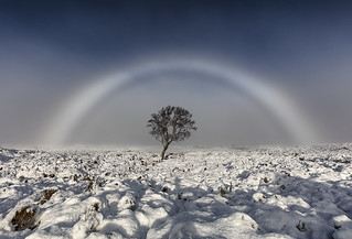 Fogbow (White Rainbow), Rannoch Moor, Glencoe, Scotland | by MelvinNicholsonPhotography