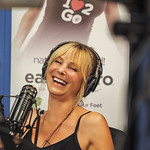 I love to see her laugh...Living Unfiltered with Wendi Cooper on UBN Radio at Sunset Gower Studios in Hollywood, California