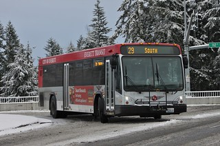 Everett Transit in the snow