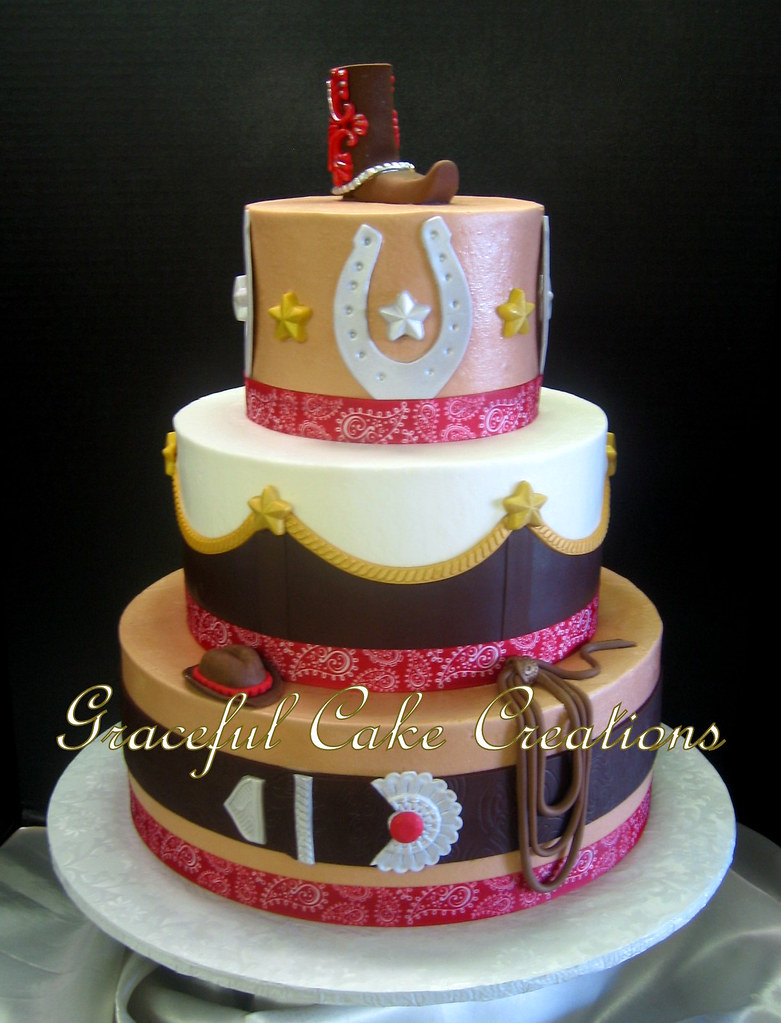 Excellent Cowgirl Western Themed Birthday Cake 01 Grace Tari Flickr Funny Birthday Cards Online Chimdamsfinfo