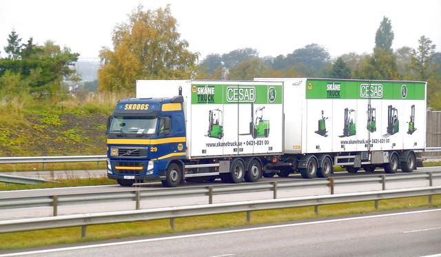 Skoogs Volvo FH roadtrain JOD787 Sweden