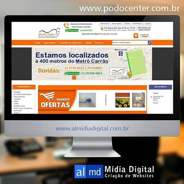 a0d5309b9059 ... Loja Virtual PodoCenter A Central do Podólogo | by AL Mídia Digital