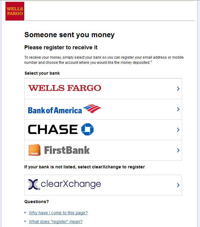 Wells Fargo SurePay Receive Money Screen | FamZoo Staff | Flickr