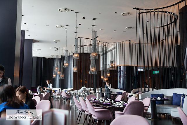 Interior of main dining room of YEN restaurant