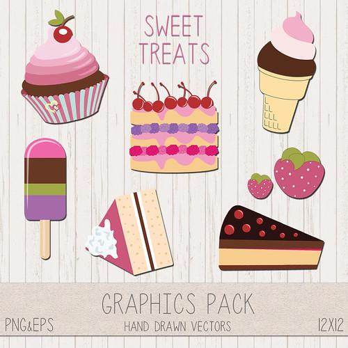 LeeLee Graphics - Desserts Clip Art