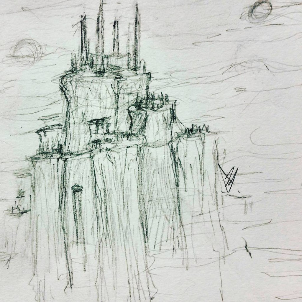 Dark Citadel Art Drawing Illustration Concept Design