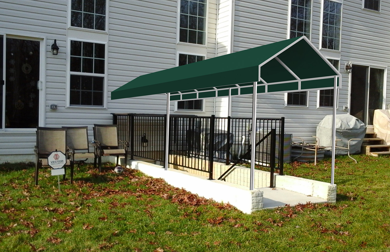 A Frame Basement Awning Rendering