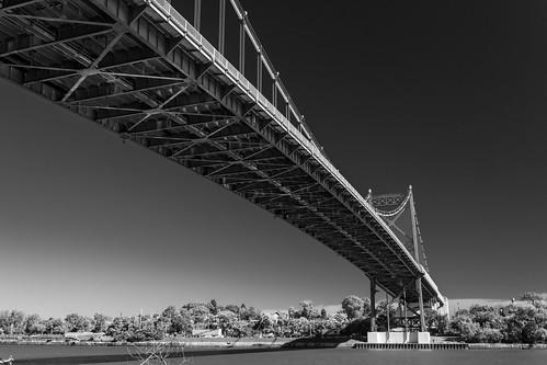 outdoors blackandwhite bridge kmsmith toledo lucascounty ohio canon