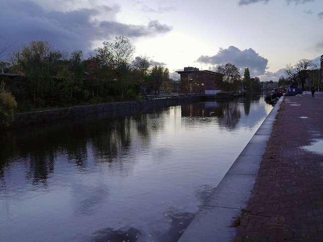 Free photo of Amsterdam: picture of a view along Artis Zoo and the canal Entrepotdok, The Netherlands