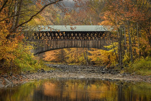 coverred bridge schoharie new york falls sunrise
