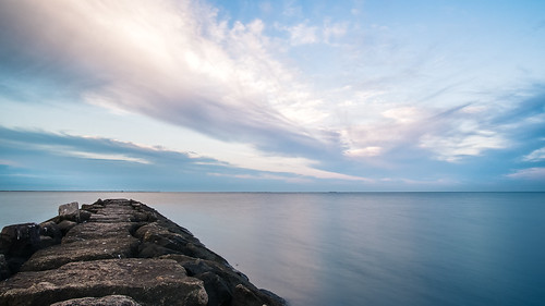 longexposure haven west beach water clouds sunrise island long connecticut shoreline ct august olympus panasonic sound 2015 ep5 12mm32mm