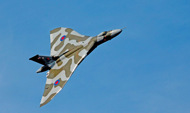Avro Vulcan Bomber, Flown by Chief Pilot Martin Withers