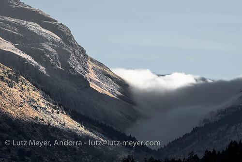 Andorra mountain landscape: Vall d'Incles. Vall d'Orient, Andorra