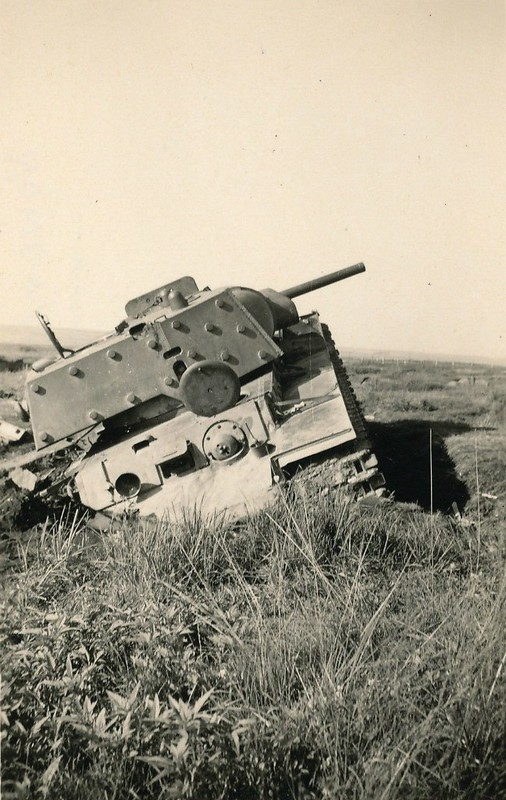 Abandonned during the retreat of the red Army heavy tank KV-1E