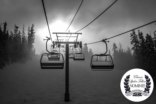 morning trees light blackandwhite bw snow cold sports nature monochrome sport fog forest sunrise landscape fun photography photo colorado mood alone moody skiing lift unitedstates altitude fineart foggy award competition eerie photograph commercial awards february campbell avon slope chairlift 2010 slopes 13mm 2013 skipperkroen blackandwhitespiderawards spiderawards mabrycampbell freshleypressed
