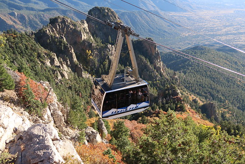 sandiapeaktramway tram tramway albuquerque newmexico usa travel fall aerialtramway sandiamountains mountainside mountain