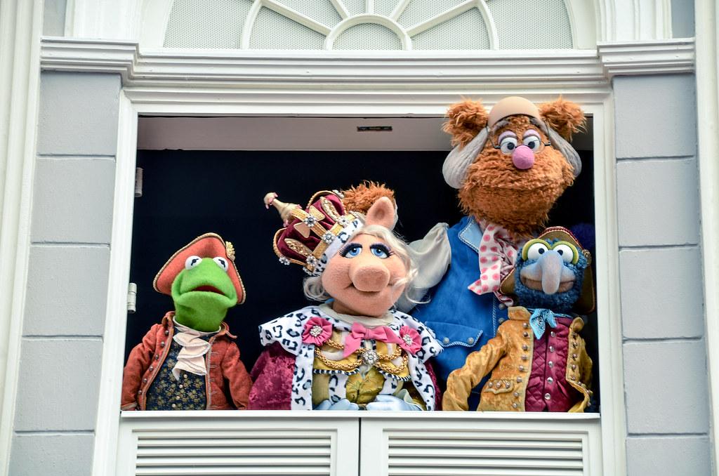 Muppets group in window